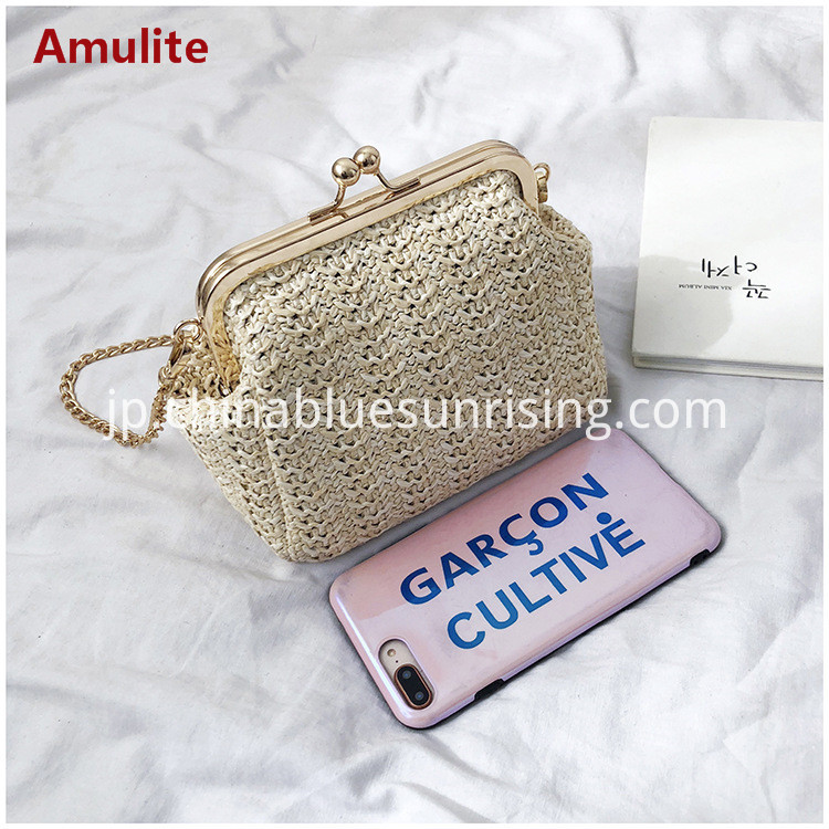 Small fashion straw bag