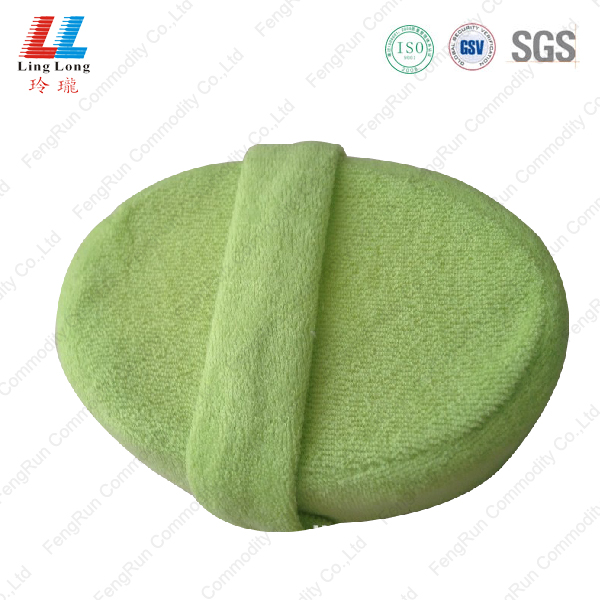 Circle loofah sponge bathing product