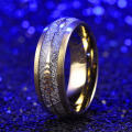 Tungsten Carbide Men's Gold Plated Rings Wholesale