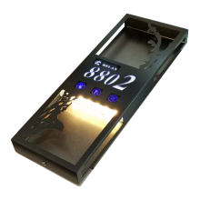 Hotel Electronic Doorplate door plate Touch Doorbell Switch with LED Room Number