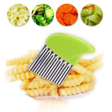 Stainless Steel Crinkle Wavy Chopper potato cutter