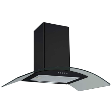 70cm Curved Glass Chimney Cooker Hood