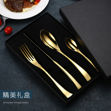 Royal Gold Plated Stainless Steel Fork Spoon Knife