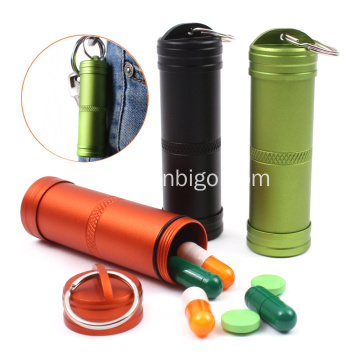 Aluminum Waterproof Capsule Pill Bottle Container