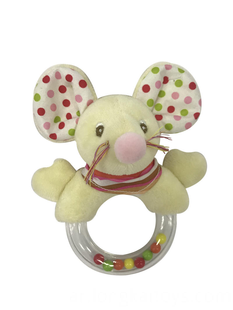 Stuffed Mouse Plastic Rattle