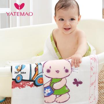 YATEMAO 100% Cotton Newborn Baby Bath Towel Cute Animal Nursing Towels Boys Girls Spring Animal Hooded Bath Towel