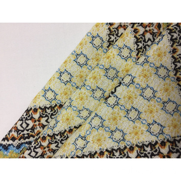 Rayon Crepe With Slub Print Fabric