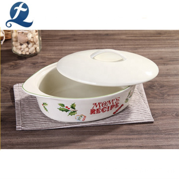 China Factory Oven Safe Food Grade Ceramic Baking Dish Plate
