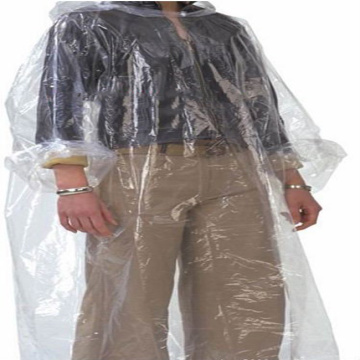 100% PE raincoat with hood rain coat