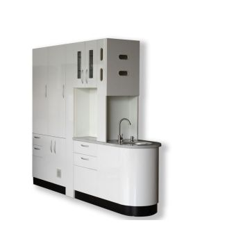 Dental center island cabinet