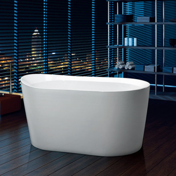 Small Deep Soaking Acrylic Freestanding Bathtub