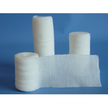 Medical White Plain Weave Elastic Cotton Bandage