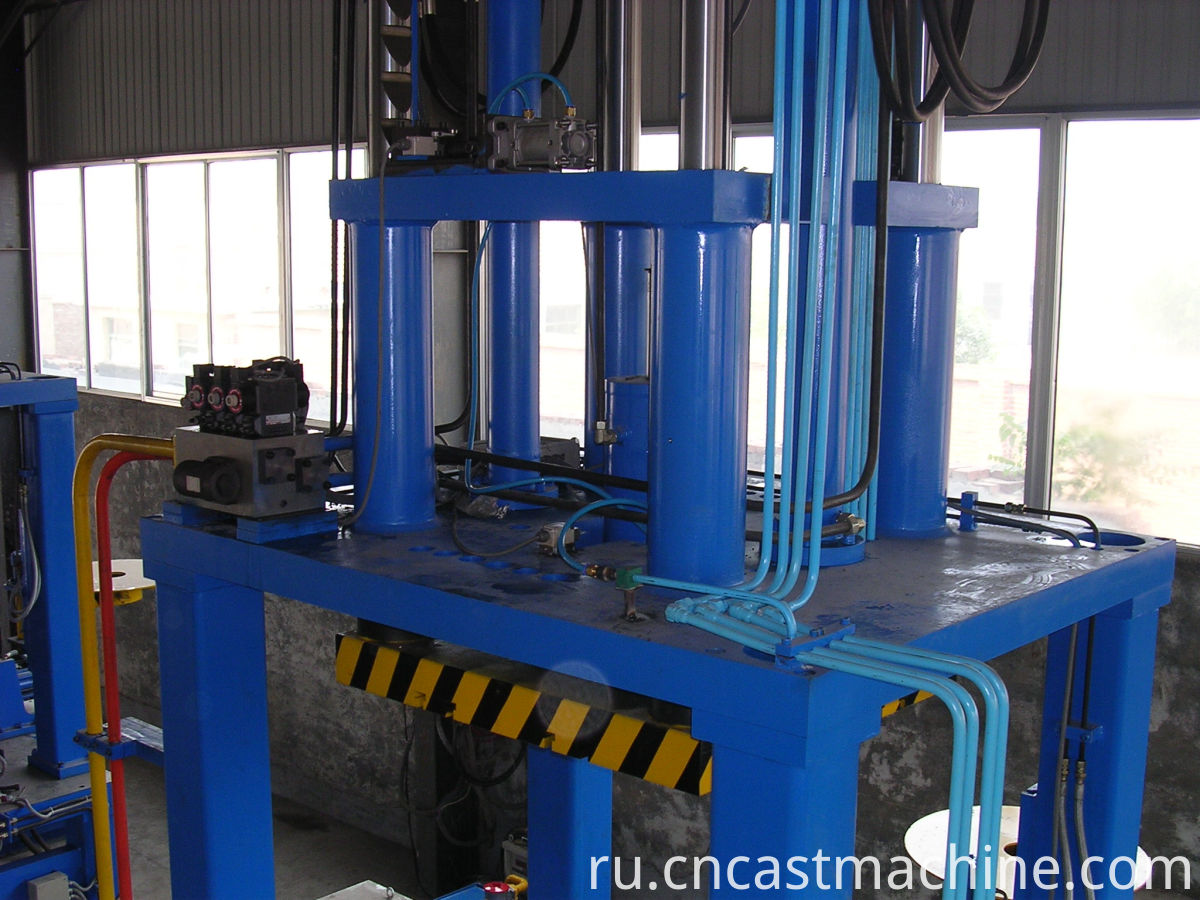 Low pressure machine for die casting