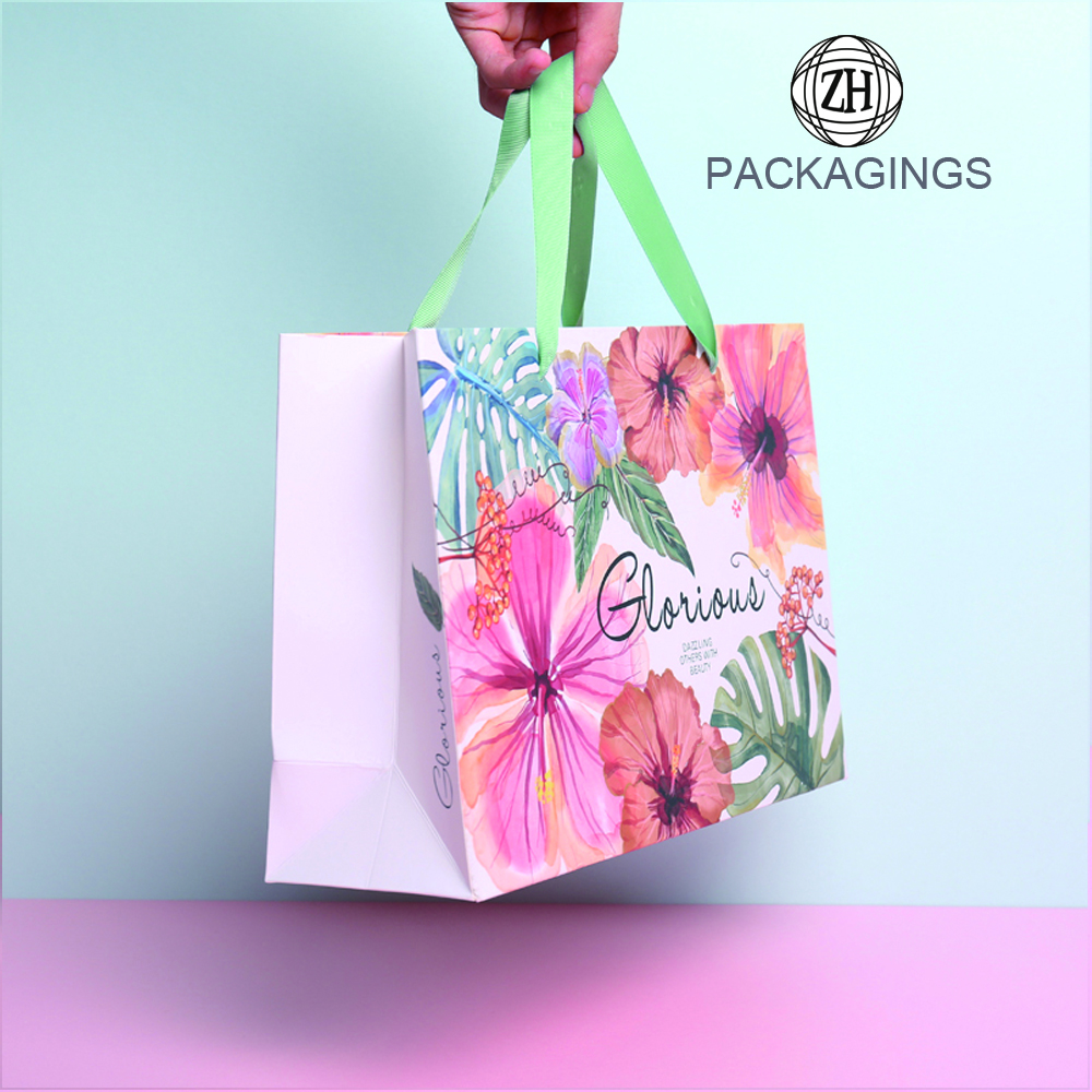 Cheap custom paper gift shopping bag printing