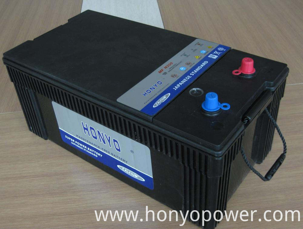 N200MF Lead-acid MF Car Batteries