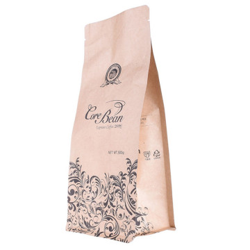 Compostable Kraft Paper Tin Tie Ziplock Coffee Bag
