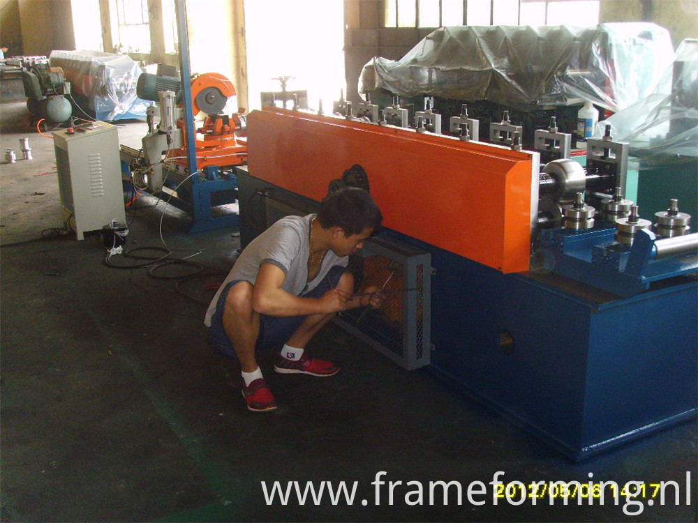 welded pipe machine tracking cutting saw
