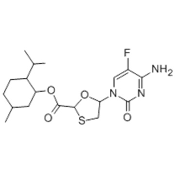5-(4-Amino-5-fluoro-2-oxo-1(2H)-pyrimidinyl)-1,3-oxathiolane-2-carboxylic acid 5-methyl-2-(1-methylethyl)cyclohexyl ester CAS 147126-75-8
