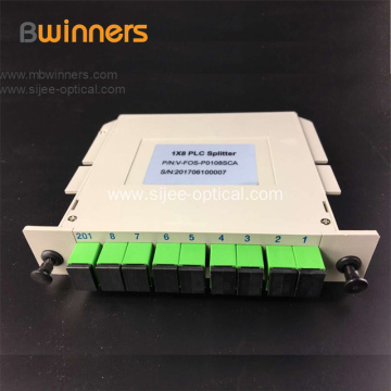 1x8 Cassette Card Inserting PLC Splitter Module
