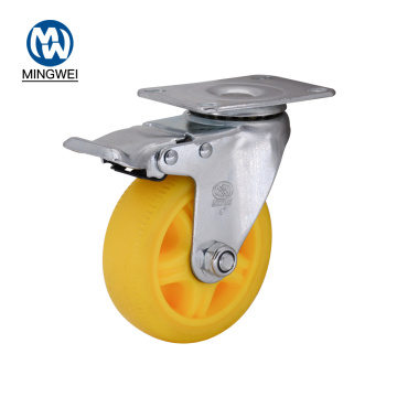 4 Inch Yellow TPR Caster with Brakes