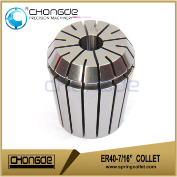 "ER40-7/16"" Precision Collet Clamping Range 0.437"" - 0.398"""