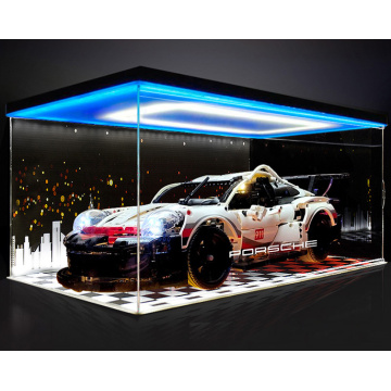 Clear acrylic display gift box for Porsche model