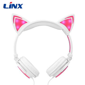 Light Up Glowing Jualan Hot Cat Earphone Telinga
