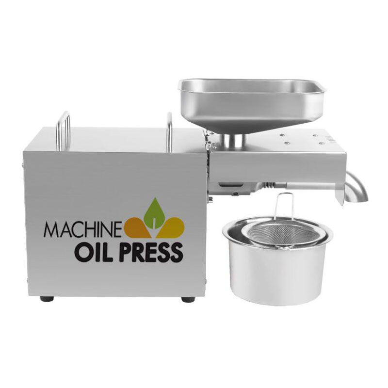 Oil Press Automatic Household FLaxseed Oil Extractor Peanut Oil Press Cold Hot Press Oil Machine 600W