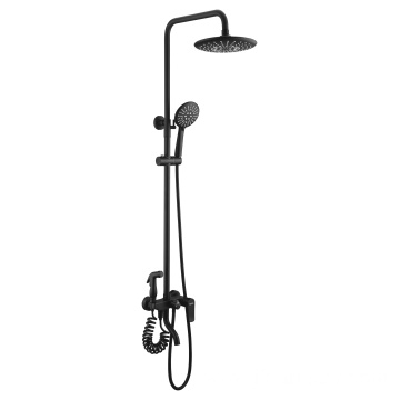 Bathroom rain shower set with spray