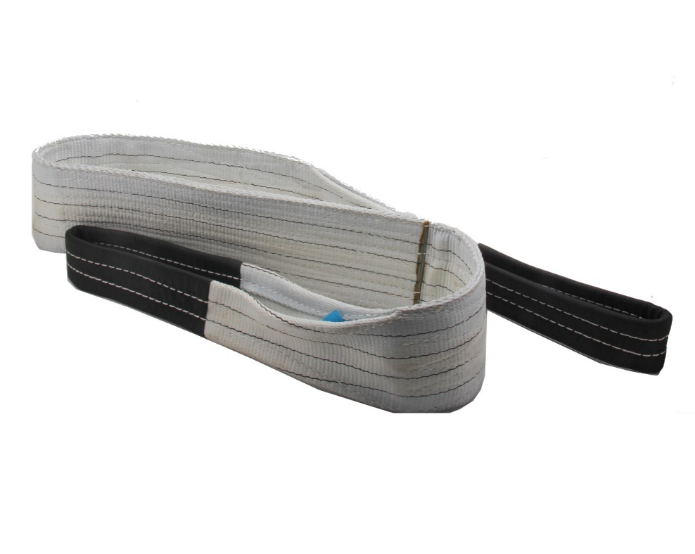 4T Loading Capacity 100% Polyester Webbing Sling Lifting Belt