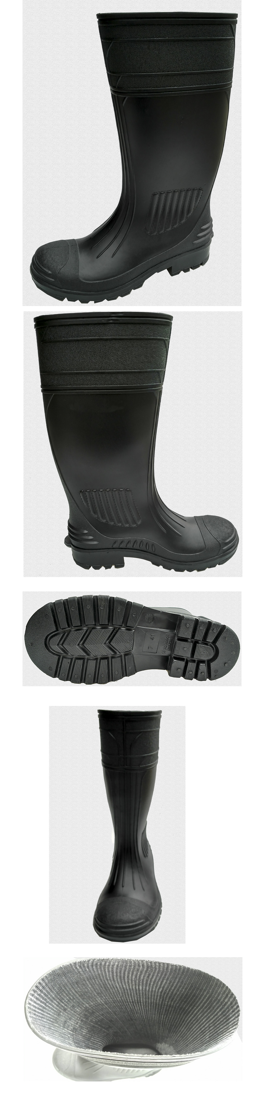 High quality Steel PVC Safety Rain Boots Wholesale