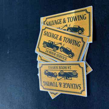 Custom full color print Salvage&Towing magnet car sticker