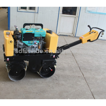 FYL-800 water cooled engine walk behind double drum vibratory roller