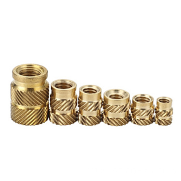 m2.5  compressed knurled  brass insert nut