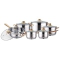 18K gold plated 12pcs JUMBO cookware set