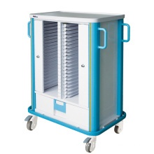 Hospital Aluminum Color Optional Medical Record Trolley