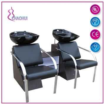 Double shampoo chair unit