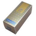 Golden carton perfume skincare box packaging custom logo