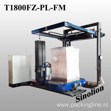 Conveyor type fully automatic pallet packing machine