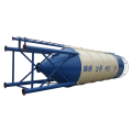 80ton welded cement silo for concrete mixer plant