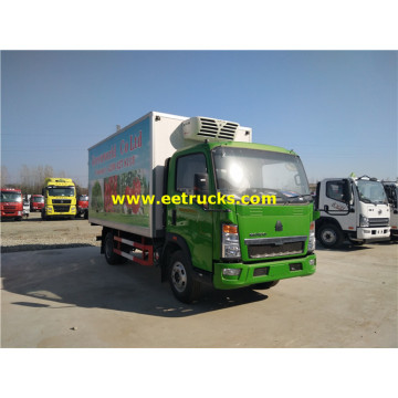 2ton HOWO Refrigerated Light Vehicles
