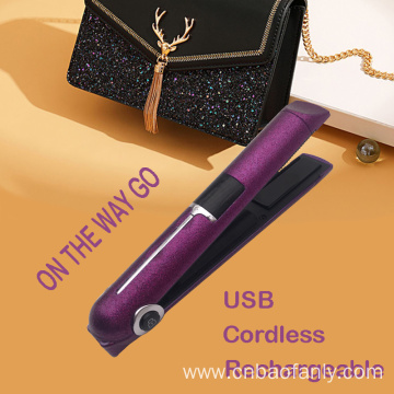 USB rechargeable shinning hair straightener