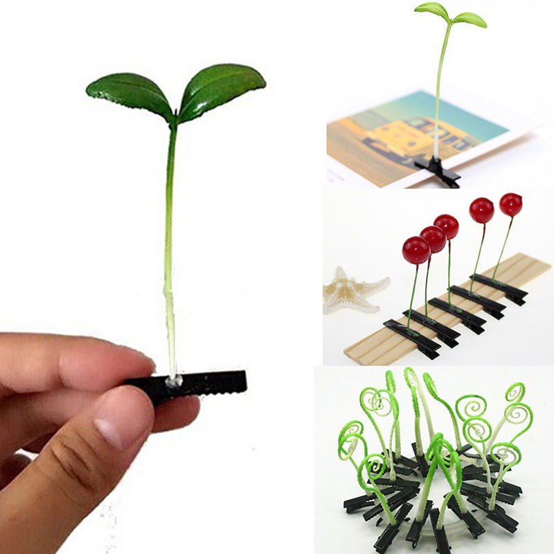 4pcs Funny Flower Plant Hair Clips Clips Bean Sprout Bobby Hairpin Headwear Clasp Hair Claw Clip Clamp For Kids Girls Women