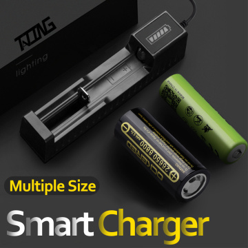 TATING 18650 Battery Charger USB Battery Adapter LED Smart Chargering for Rechargeable Batteries Li-ion 18650 26650 14500