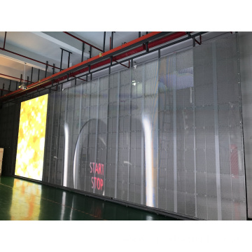 Cost saving energy saving transparent led screen
