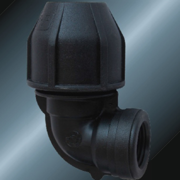 Black Color PE Female Elbow 90° For Irrigation