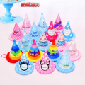 Cute Happy Birthday Party Paper Hats Plush Cap