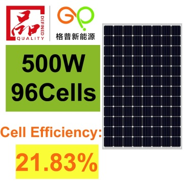 High efficiency 500W mono solar panel 96 cells hot sale
