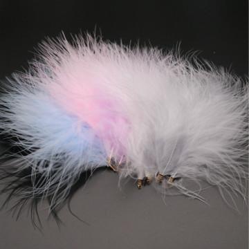 10-12cm Turkey Plumas Full Velvet Feathers Metal Clip Buckle Diy Feather Jewelry Craft Plume Dream Catcher Decoration Material