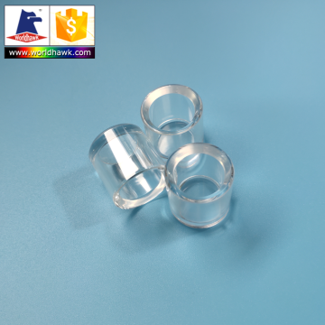 Customize shape polished sapphire glass tube lens